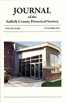 Journal of the Suffolk County Historical Society from 2019